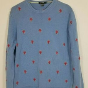 J Crew Blue Lobster Mens Sweater Size S